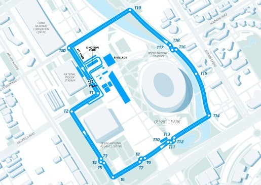 FIA Formula E Beijing Track