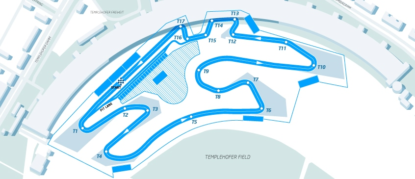 Conversao Eletrica FIA Formula E Track Berlim