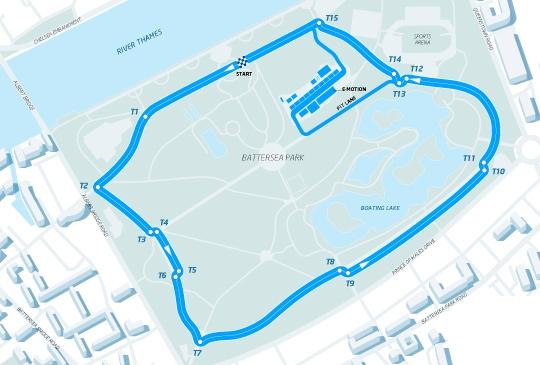 Conversao Eletrica FIA Formula E Track Londres