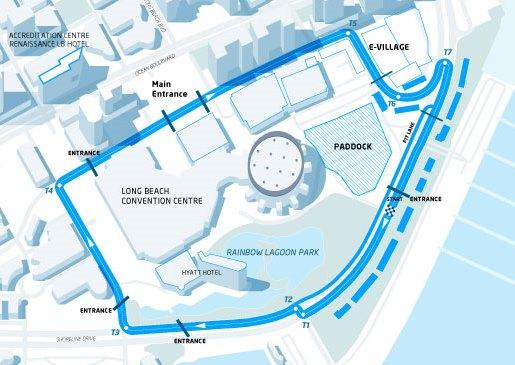 Conversao Eletrica FIA Formula E Track Long Beach