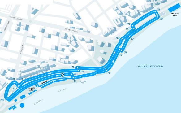 Conversao Eletrica FIA Formula E Track Punta Del Este